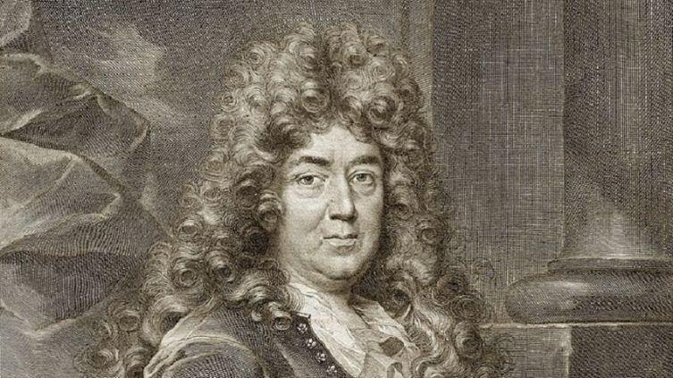 Портрет Шарля Перро, фрагмент, гравюра, 1694 г.