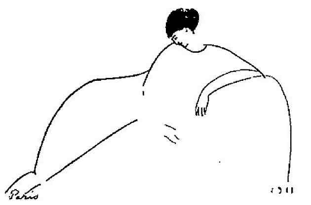 Анна Ахматова на рисунке Модильяни, 1911 г.