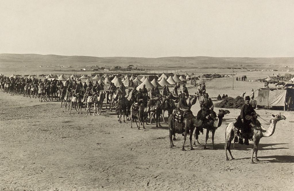 Османский верблюжий корпус времен Первой Мировой войны