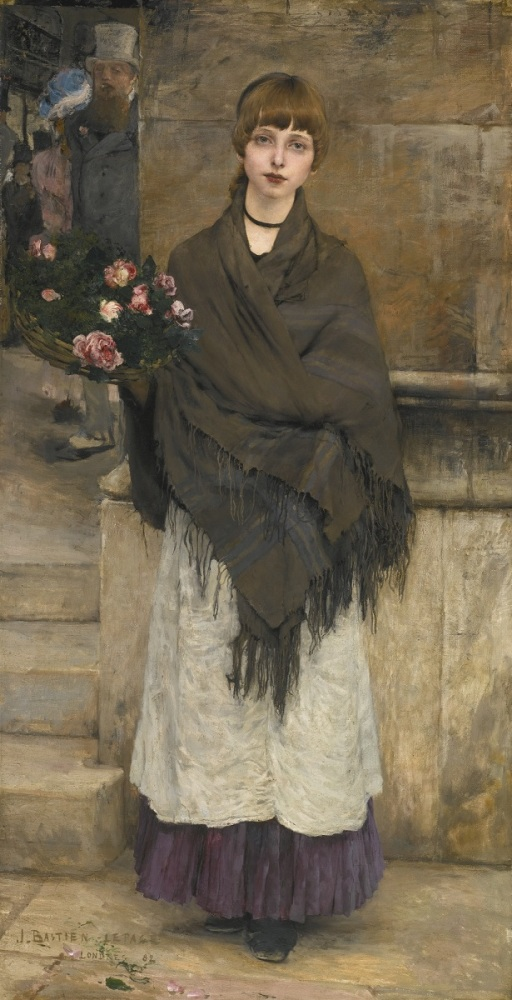 Бастьен-Лепаж, Продавщица цветов, 173х90 см, 1882, частная коллекция