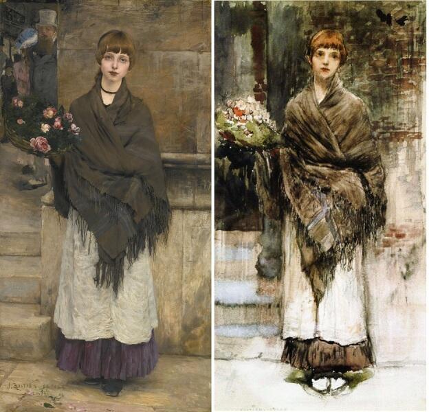 Бастьен-Лепаж, Продавщица цветов