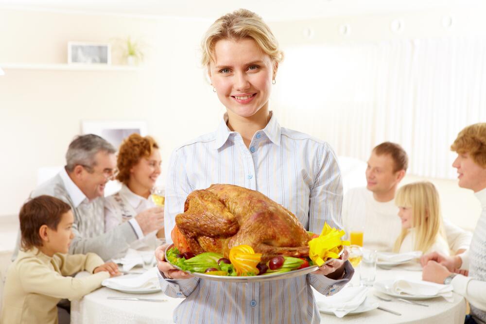Праздничное блюдо на День благодарения