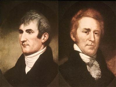 Льюис и Кларк, руководители первой сухопутной экспедиции через территорию США