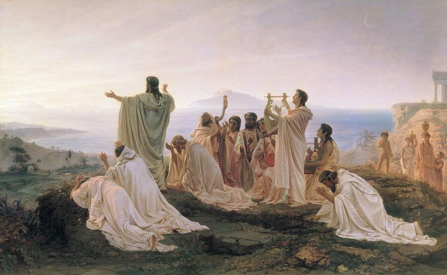 Ф. А. Бронников, «Гимн пифагорейцев восходящему солнцу», 1869г.