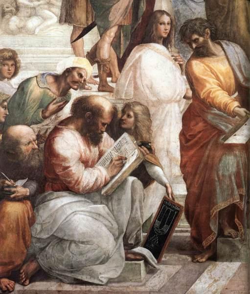Пифагор на фреске Рафаэля «Афинская школа»