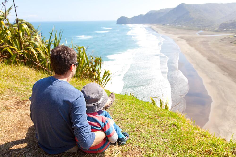 Пляж Piha в Новой Зеландии