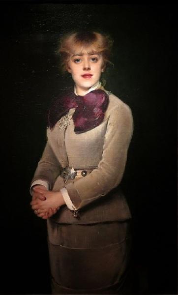 Луиз Аббема, портрет Жанны Самари, 1879, музей Карнавале, Париж, Франция