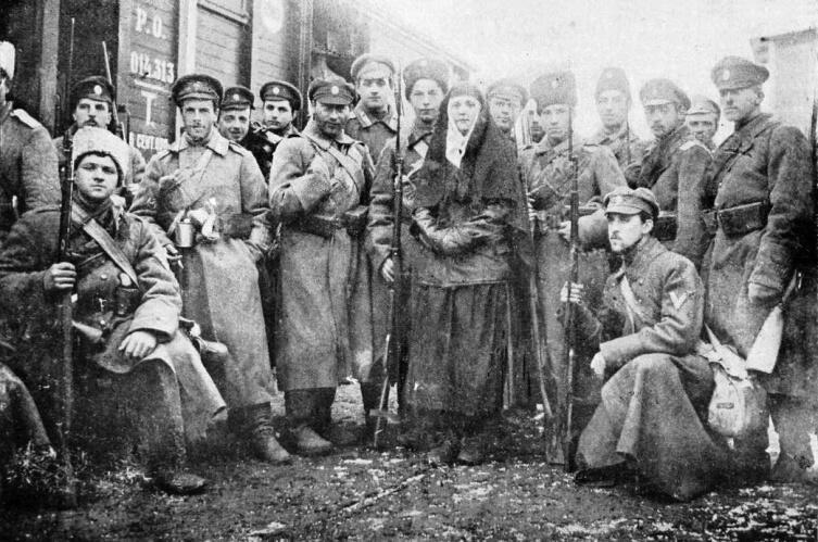Пехотная рота Добровольческой армии, сформированная из гвардейских офицеров. Январь 1918 г.