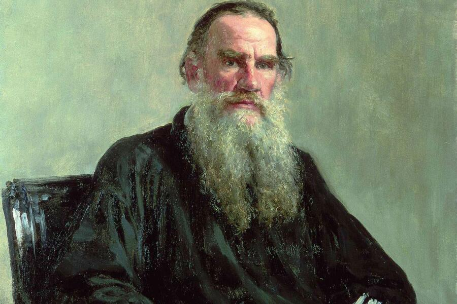 И. Е. Репин, «Портрет писателя Л.Н. Толстого» (фрагмент), 1887 г.