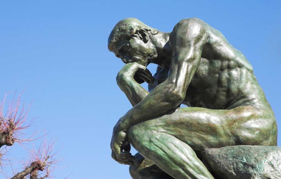 О. Роден, «Мыслитель»