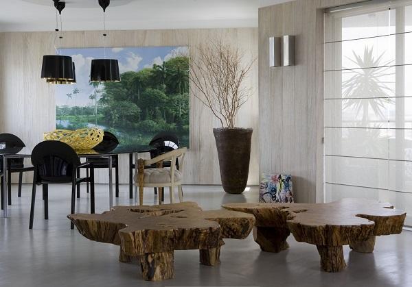Интерьер в экостиле: как выбрать цвет штор и обивку мебели?