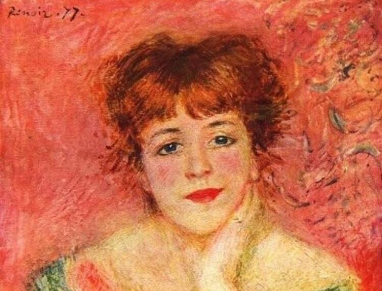 Огюст Ренуар, фрагмент портрета актрисы Жанны Самари