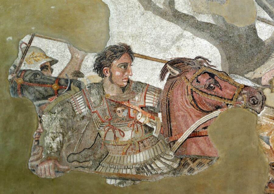 Портрет Александра Македонского. Мозаика из Помпей