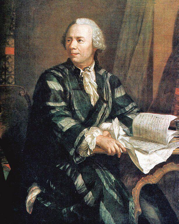 Я. Э. Хандманн, «Портрет Леонарда Эйлера», 1756 г.