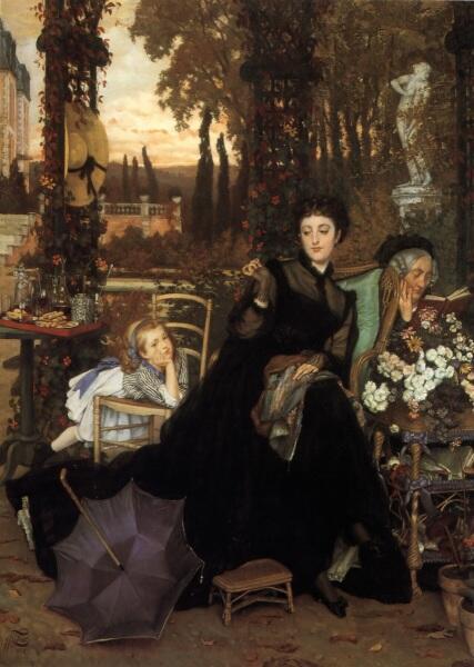 Джеймс Тиссо, Вдова, 1869 г., 68х49 см, частная коллекция
