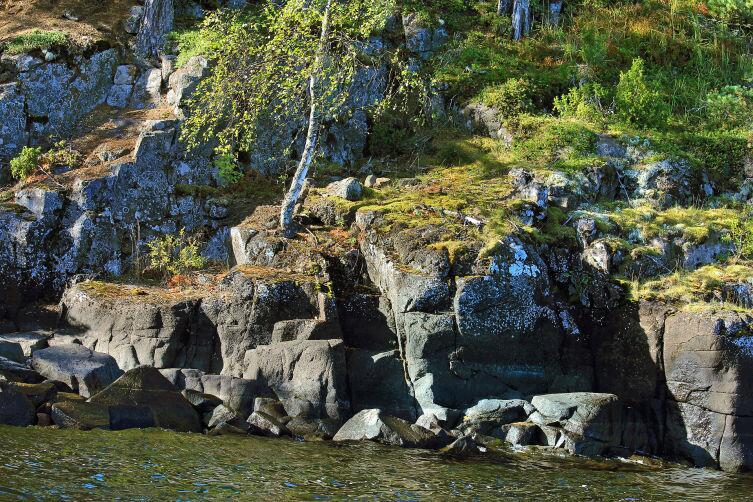 Скалы на острове Валаам