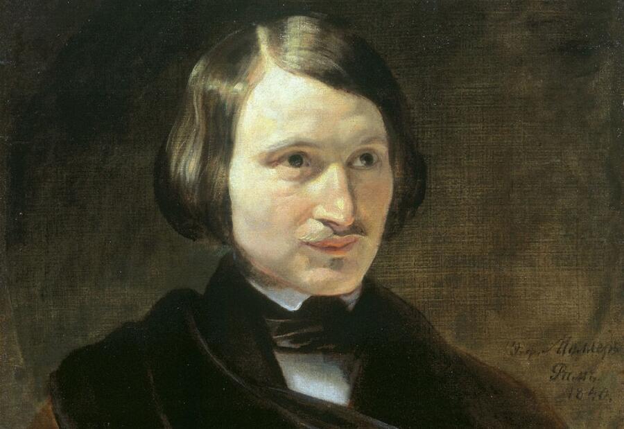 Ф. А. Моллер, «Портрет Н. В. Гоголя» (фрагмент), 1840 г.