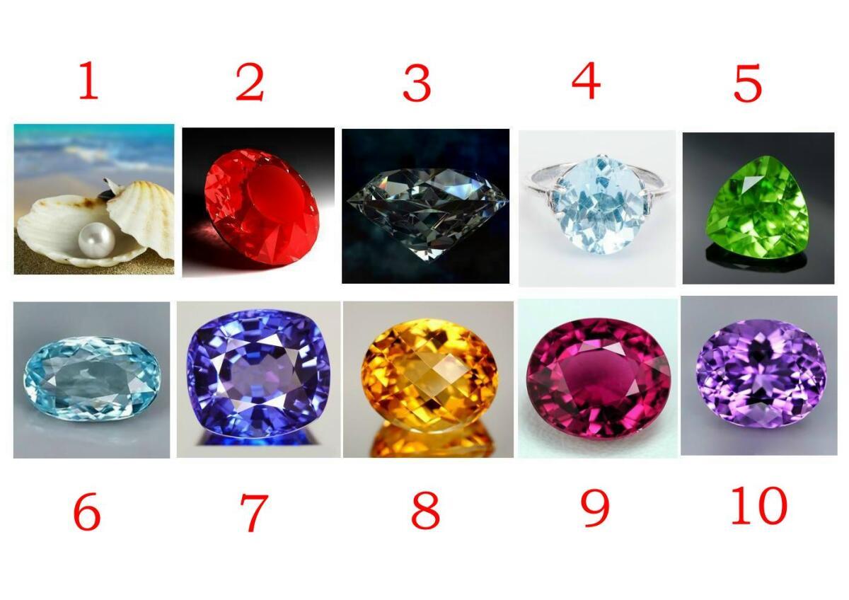 Драгоценные камни - тест по выбору камня