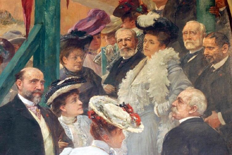 """Ресторан """"Голубой вагон"""", фреска с портретом барона Хоттингера"""