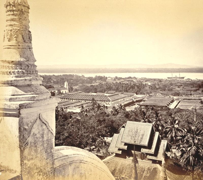 Пагода Моулмейна упомянутая в стихотворении Р. Киплинга, фото 1870 г.