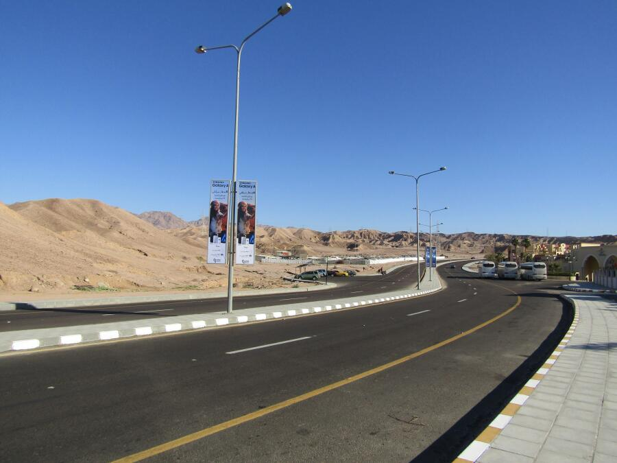 Дорожный пейзаж Иордании