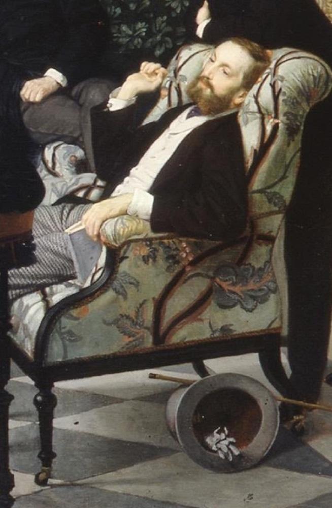 Джеймс Тиссо, «Общество улицы Ройял», фрагмент «Принц Эдмон де Полиньяк», 1868 г.