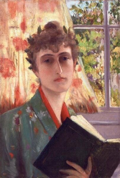 Винаретта Зингер, «Автопортрет», 1885 г.