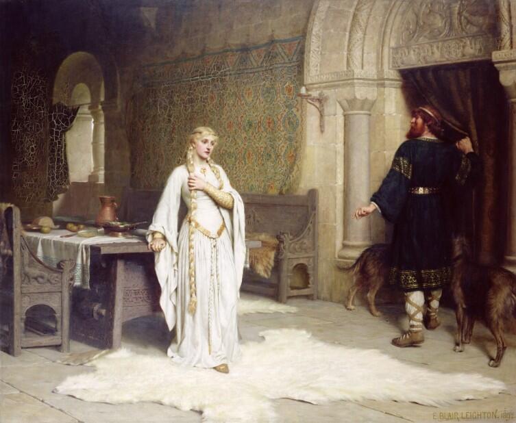 Художник Эдмунд Лейтон изобразил момент принятия решения, 1892 г.