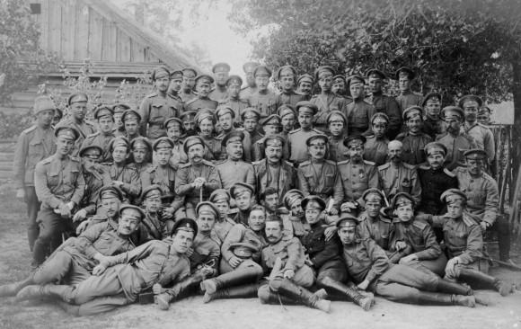 Посещение генерал-лейтенантом Д. П. Парским Юрьевецкого пехотного полка. 1916г.