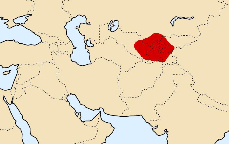 Расположение Согдианы в 300 году до н.э.