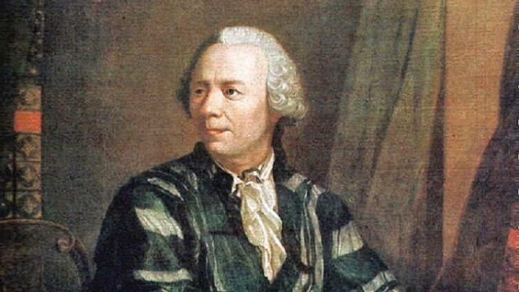 Я. Э. Хандманн, «Портрет Леонарда Эйлера», фрагмент, 1756 г.