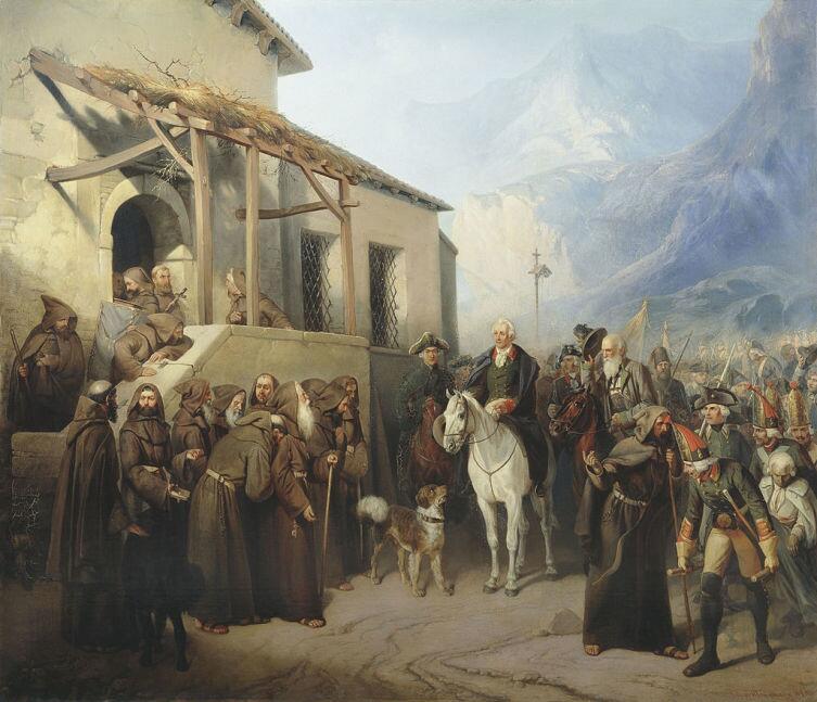 А. И. Шарлемань, «Фельдмаршал Суворов на вершине Сен-Готарда 13 сентября 1799 года»