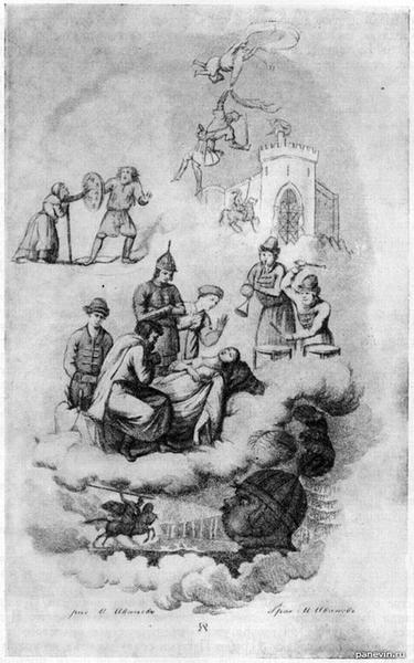 Гравюра М. Иванова из первого издания поэмы «Руслан и Людмила»