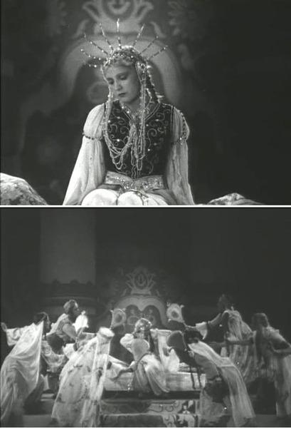 Сцена с зеркалами из экранизации 1938 г.