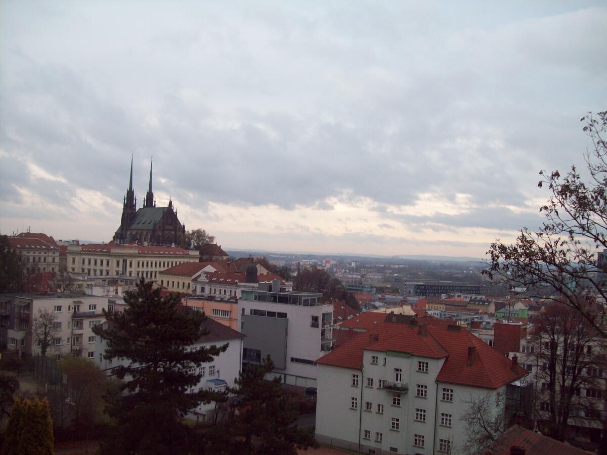 Вид с горы замка Шпильберк