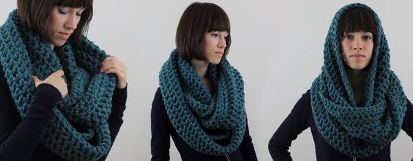 С чем и как носить шарф-снуд?