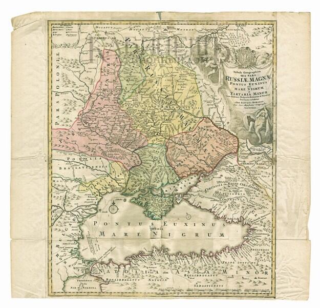 Карта составленая Георгом фон Менгденом и Яковом Вилимовичем Брюсом во время Азовских походов 1695–1696 гг.