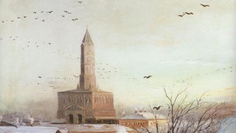 А. К. Саврасов, «Сухарева башня», фрагмент, 1872 г.