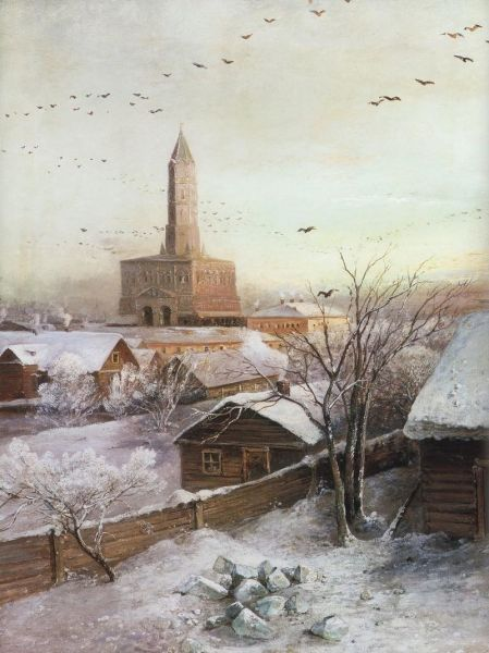 А. К. Саврасов, «Сухарева башня», 1872 г.
