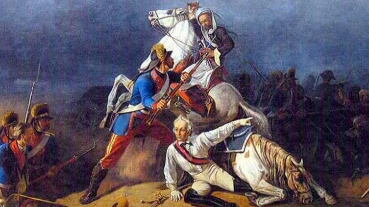К.И. Кеппен, «Спасение генерал-аншефа А.В. Суворова гренадером Степаном Новиковым в сражении при Кинбурне 1 октября 1787 года», 1855 г.