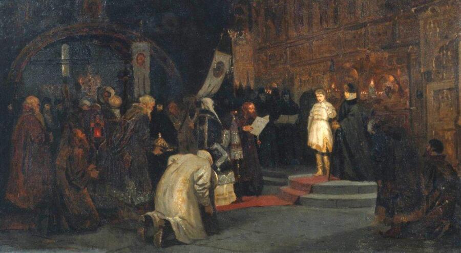 М.В. Нестеров, «Призвание Михаила Федоровича на царство», 1885 г.