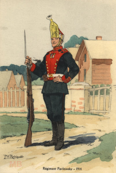 Солдат лейб-гвардии, Павловский полк, 1914г