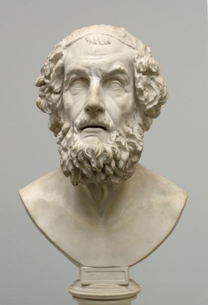 Гомер, современная копия с древнего оригинала, музей копий классической скульптуры, Мюнхен, Германия