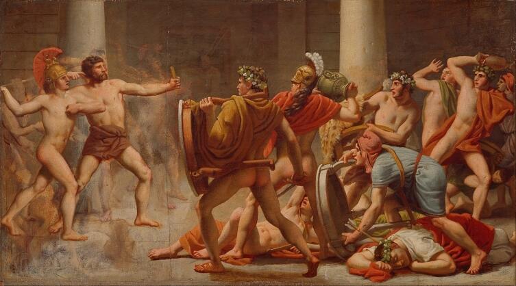 Кристоффер Вильхельм Эккерсберг, «Месть Одиссея женихам Пенелопы», 1814 г.