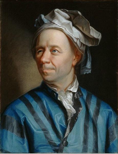 Эмануэль Хандманн, «Портрет Леонарда Эйлера», 1756г.