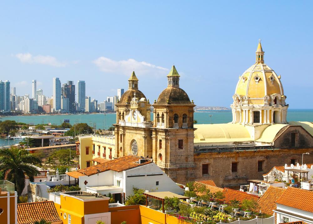 Город Картахена в Колумбии