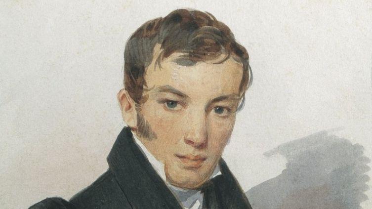 П. Ф. Соколов, «Портрет В. А. Жуковского», фрагмент, 1820-е гг.