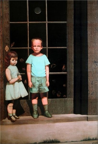 картина художника Билла Стоунхема «The hands resist him»