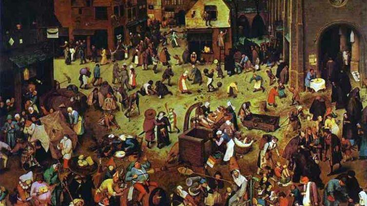 Питер Брейгель старший, «Битва Карнавала и Поста», 1559 г.