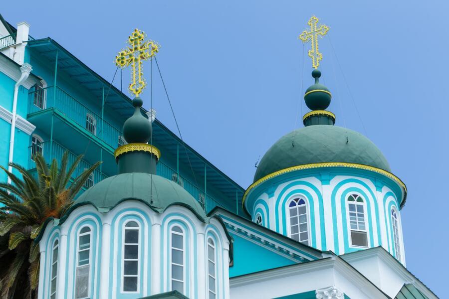 Русский православный монастырь на горе Афон, Халкидики, Греция